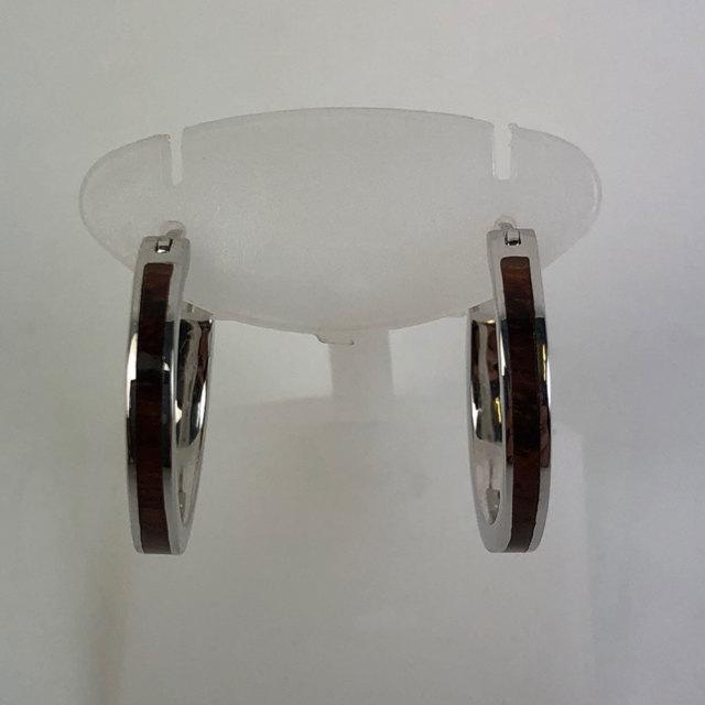 ハワイアンジュエリー フープピアス コアウッドシルバー 2.5mm