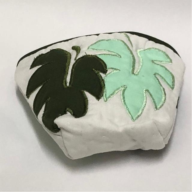 ハワイアンキルト Hawaiian Quilt  モンステラコインケース/インテリア小物