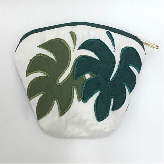 ハワイアンキルト Hawaiian Quilt モンステラコインケース インテリア小物