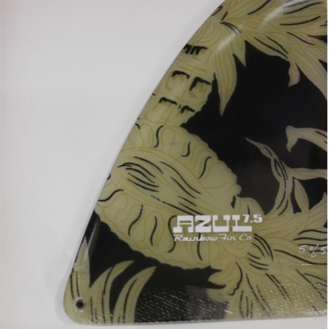Rainbow fin Traveler Series Black Pineapple 7.5 レインボーフィン トラベラーシリーズ ロングボードフィン ブラック パイナップル