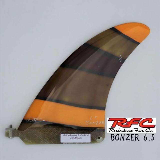 Rainbow fin BONZER 6.5 レインボーフィン ステンドグラス アートフィン ボンザー センターフィン シングル フィン