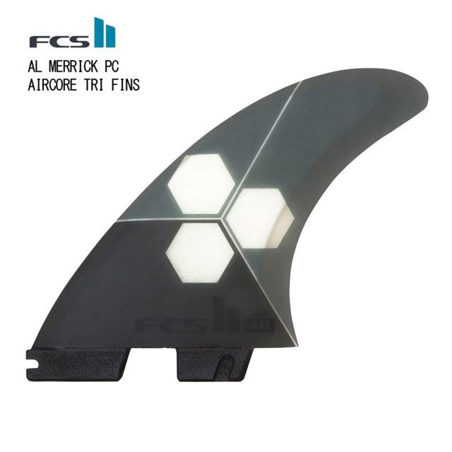 FCS2 FIN エフシーエスツー  FCS II AL MERRICK PC AIRCORE AM PC GREY TRI SET