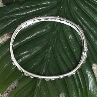 ハワイアンジュエリー シルバー バングル ホヌ×プルメリア ブレスレット hawaiian jewelry アクセサリー