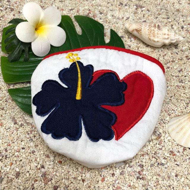 ハワイアンキルト Hawaiian Quilt ハイビスカスコインケース 小銭入れ