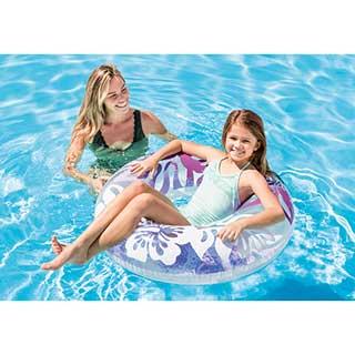 子供用 浮き輪 91cm インテックスクリアカラーチューブ INTEX 59251SWIM RING TIRE TUBE 海水浴グッズ 玩具