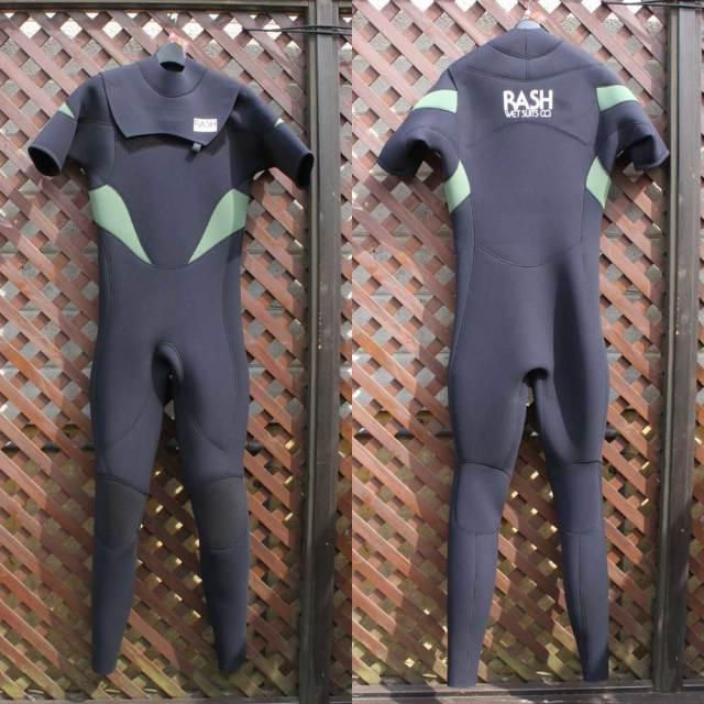 RASH ウェットスーツ メンズ スプリングジャンキー シーガル ノージップタイプ 3.5×2mm 限定 MT Limited Version ブラック×カーキー
