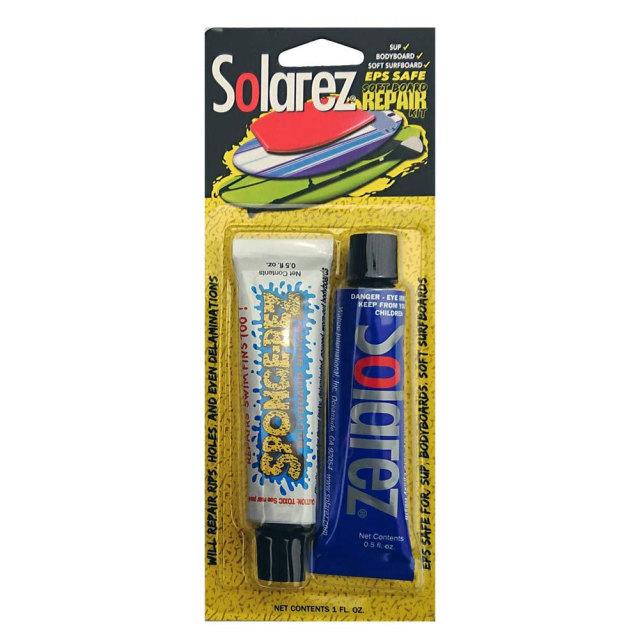ソーラーレズ ソフトボード専用リペアキット SOLAREZ soft board repair KIT EPS SAFE ソフトサーフボードリペア剤 サーフボード修理用品