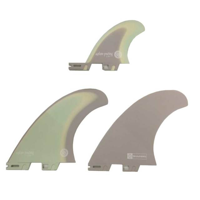 SHAPERS FINS ASHER PACEY5.59 Pastel Twin Fin + optional traier fin S2BASE/FCS2タイプ