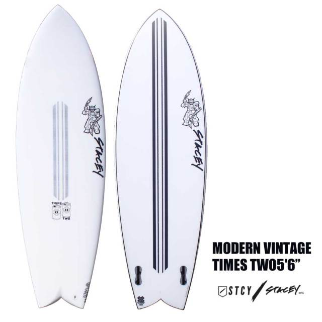 ショートボード STACEY SURFBOARDS MODERN VINTAGE TIMES TWO5'6