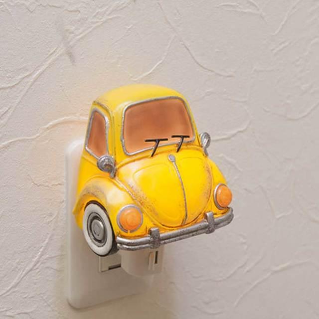 ットライト ビートル イエローカー LED電球 NEWフットランプ コンセントライト/ミニカー 雑貨 置物 サーフィン