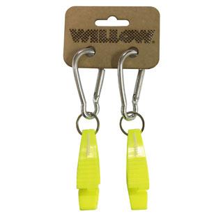WILLOW カラビナクリップ 2個セット WLAC-409 ウィロー サーフィン カラビナ スノボ アウトドア キャンプ