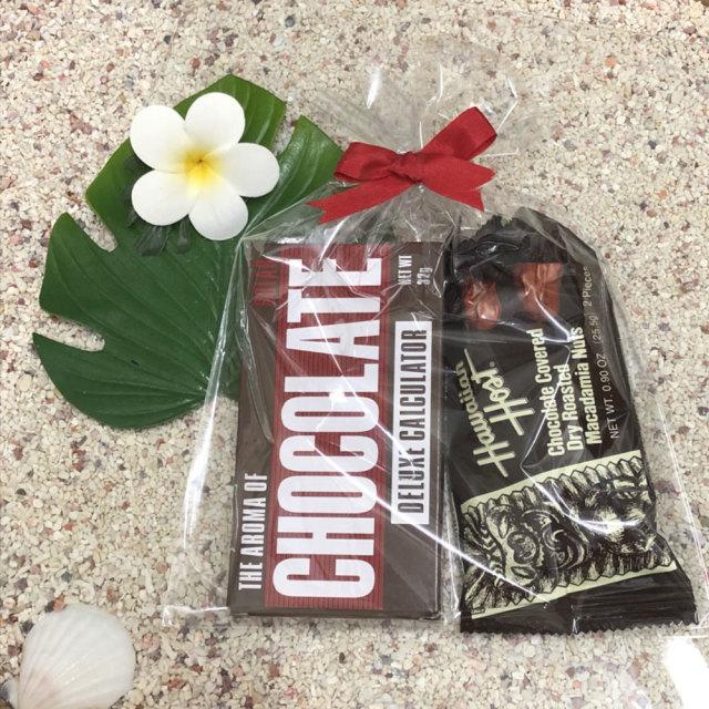 バレンタインデーギフトセット 「チョコレート型電卓&マカダミアンナッツチョコレート」