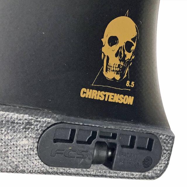 FCS2 CHRISTENSON LONGBOARD FIN PG BLACK 8.5
