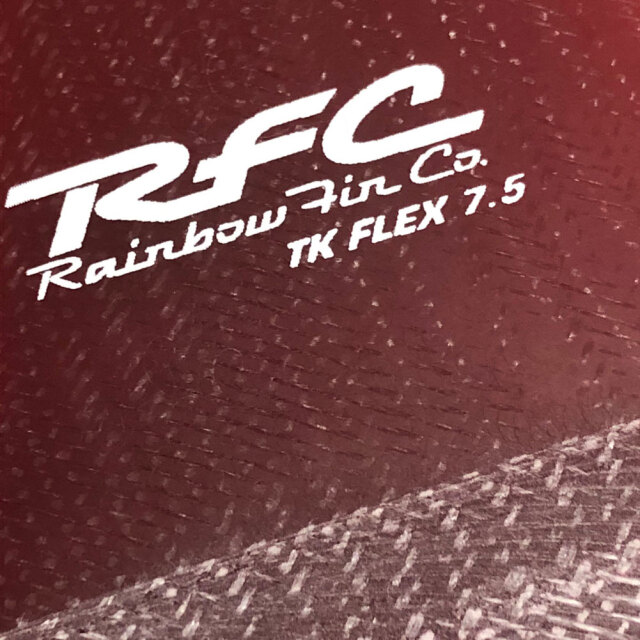 "RAINBOW FIN レインボーフィン ロングボード用フィン TK FLEX 7.5"""