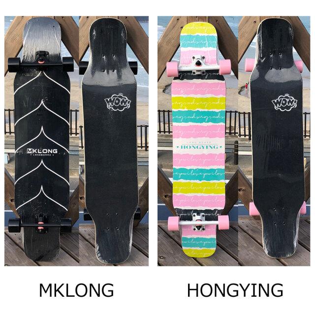 ロングスケートボード コンプリート クルーザー 110×23.5cm ロングボード 四輪スケートボード dancing