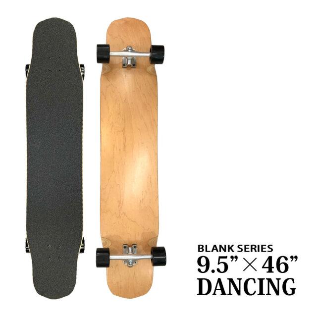 スケートボード コンプリート 9.5x46インチ ブランク サーフ ロングスケートボード