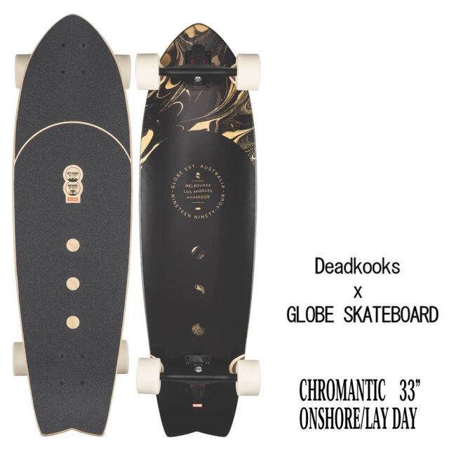 スケートボード コンプリート 33インチ デッドクックス×グローブ オンショア レイデイ クロマンティック 9.5インチ