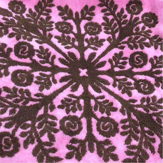 キャシーマム ハワイアンキルト柄 フェイスタオル 34×80cm 五つの島シリーズ レディース 86101276A ピンク
