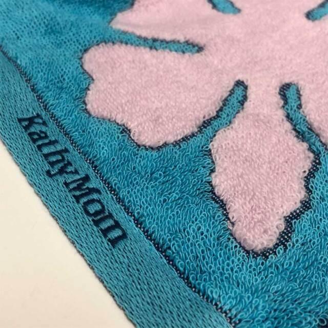 キャシーマム ハワイアンキルト柄 フェイスタオル 34×80cm オナオナシリーズ ハイビスカス ブルー
