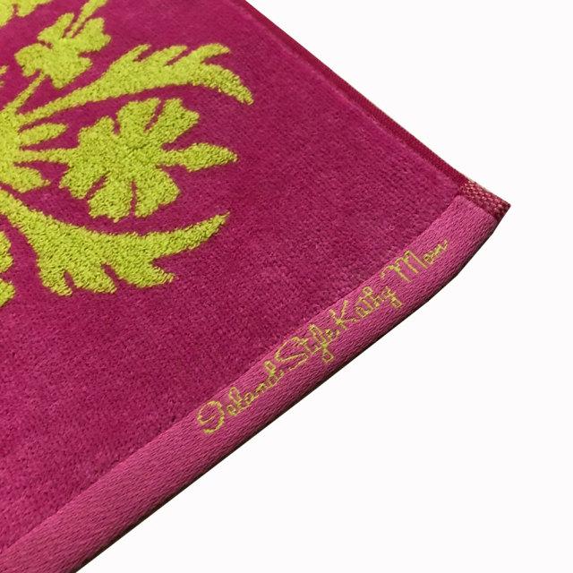 キャシーマム ハワイアンキルト柄 フェイスタオル 34×80cmレアレアシリーズ ハイビスカス ピンク