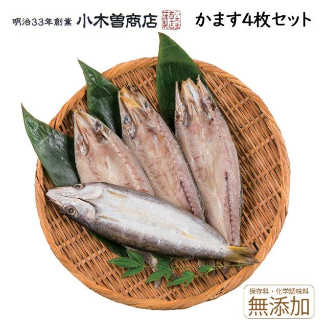干物セット かますひもの4枚セット 伊豆 下田 名産 ひもの 小木曽商店