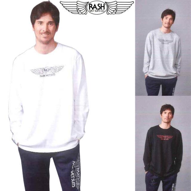 2020 RASH ラッシュ 羽フロント メンズ ロングスリーブティシャツ