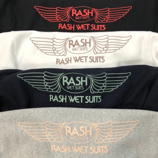 2020 RASH ラッシュ 羽バックフルジップパーカー