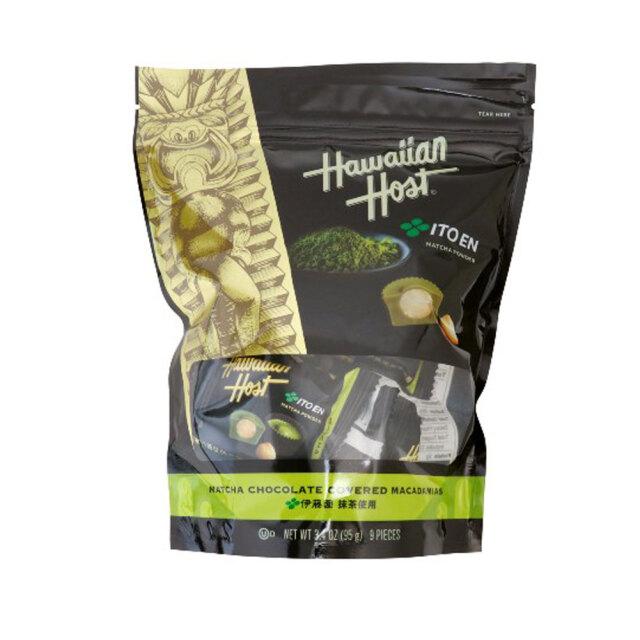 ハワイアンホースト 伊藤園 抹茶 マカデミアナッツ チョコレート スタンドバッグ 個包装 9粒 95g Hawaiian Host hhca880