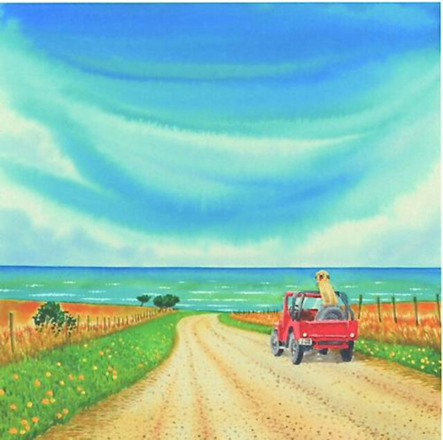 栗乃木ハルミ「海への道」