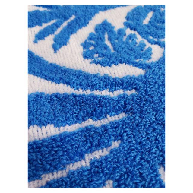 キャシーマム フェイスタオル ティーリーフホワイト柄 34×80cm クラシックハワイアンシリーズ 綿100% 無撚糸