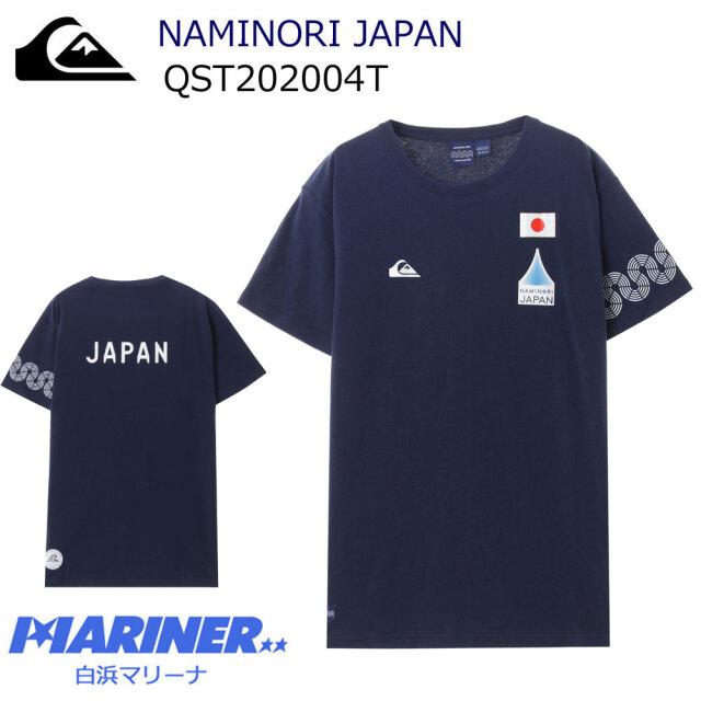クイックシルバー 波乗りジャパン チューブティ インディゴ QST202004T WHT QUIKSILVER NAMINORI JAPAN TUBE TEE