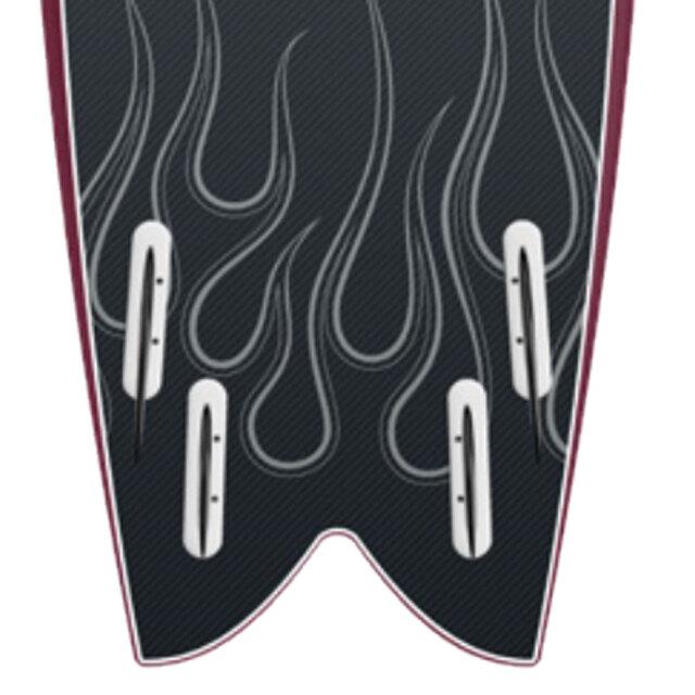 ソフトボード ストームブレード モダンレトロ フィッシュ 5'8
