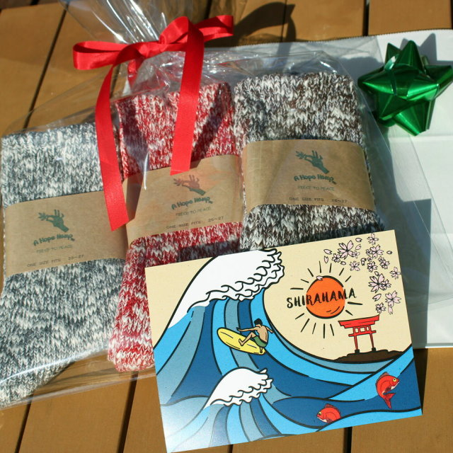 ギフト 3足セット アホープ ヘンプ ソックス A HOPE HEMP SHSX-007 メンズ レディース 靴下 くつ下 麻 サーフィン クリスマス 誕生日