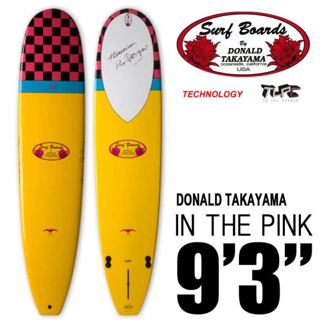 ロングボード SURFTECH HAWAIIAN PRO DESIGNS ドナルドタカヤマ IN THE PINK 9'3 イエロー