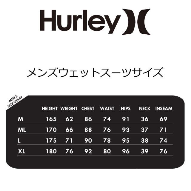 ハーレーメンズウェットスーツ 3mm×2mm フルスーツ アドバンテージプラス HURLEY MEN'S ADVANTAGE PLUS 3MM×2MM  FULLSUITSUIT