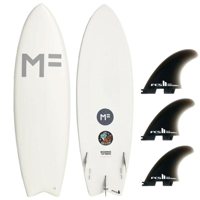 ミックファニングソフトボード キャットフィッシュ 5'8 ホワイト Mick Fanning MF Softboard CATFISH WHITE FCS2