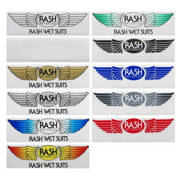 RASH ラッシュ 羽ステッカー Mサイズ/サーフブランドウェア サーフィン ステッカー