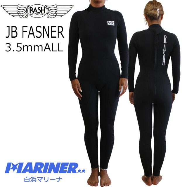 RASH ラッシュ ウェットスーツ レディース フルスーツ ALL3.5mm バックファスナー 限定 JB FASNER TYPE