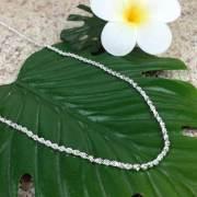 シルバー カット フレンチロープチェーン 40cm ハワイアンジュエリー/ハワイアンアクセサリー SILVER925