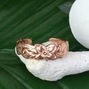 ハワイアンジュエリー ピンクシルバートゥリング ヘリテイジ /アクセサリー 足用 指輪