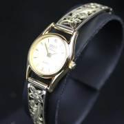 ハワイアンジュエリー ゴールド時計14kイエローゴールドブレスウォッチ 「ハワイアンフラワー」
