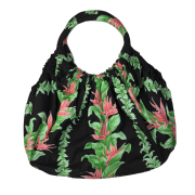 Hawaiian quilt ハワイアンキルト バッグ 花柄 黒