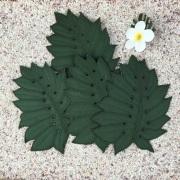 モンステラコースター4枚セット/ハワイアンキルト Hawaiian Quilt キッチングッズ ハワイアン雑貨 インテリア