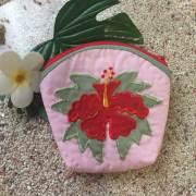 ハワイアンキルト Hawaiian Quilt  ハイビスカスコインケース/財布 小銭入れ