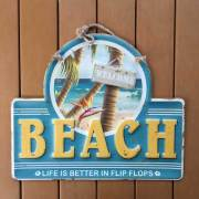 beach surf レトロ調 ティンプレート ハワイアン ブリキ看板 Beach ビーチ