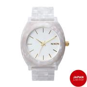 NIXON ニクソン腕時計 THE TIME TELLER ACETATE WHITE GRANITE/GOLD/メンズ【