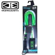 "OCEAN & EARTH オーシャンアンドアース SUPリーシュコード SUP COIL ONE PIECE LEASH 10'0"" GREEN"