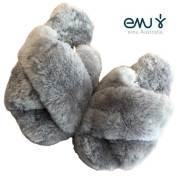 【10%OFF】EMU Mayberry エミュー メイベリー カラー CHARCOAL/ファーサンダル