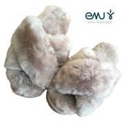 【10%OFF】EMU Mayberry エミュー メイベリー カラー MUSHROOM/ファーサンダル