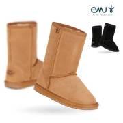 【10%OFF】EMU キッズ シープスキンブーツ WALLABY LO ワラビーロー/エミュー 子供用ブーツ スウェードブーツ